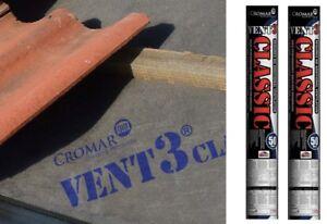 CROMAR Breathable Membrane 2 ROLL 1M x 50m Roll Vent 3 CLASSIC TILE ROOFING FELT