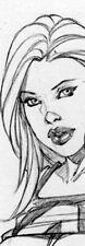 SEXY SUE STORM SK#1294 FANTASY ORIGINAL PINUP GIRL ART by ALEX MIRANDA