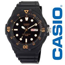NEW Casio Classic Men's Dive Watch MRW200H-1EVCF Black Orange Resin