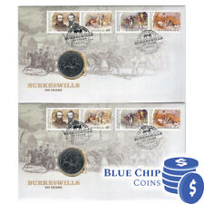 2010 UNC 20c Burke & Wills 150 Years Limited Edition Consecutive Pair PNC