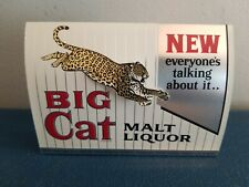 1960's big cat malt liquor beer table tent with pop-out leopard tiger pabst wi
