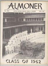 Almoner #22 July 1962 VG/FN Alexian Brothers School of Nursing yearbook