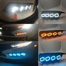 For Honda Civic Sedan 16-2018 Pair White/Amber/Bule LED DRL Turn Signal Light k