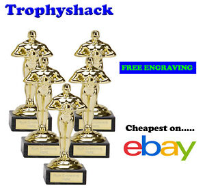 5 x 178mm Oscar,Prom,Trophy,Award by The Trophy Shack,FREE Personalisation