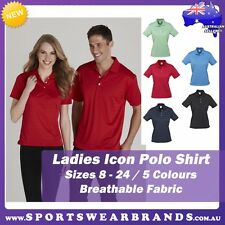 Ladies Icon Polo Shirt Business Casual Office Size 8-24 Top Sports Club P10222