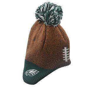 Philadelphia Eagles Official NFL Baby Infant Kids Youth Pom Knit Winter Hat Cap