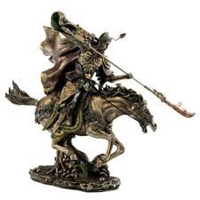 "GUAN YU STATUE 12"" Bronze Resin Guan Gong Chinese Warrior Three Kingdoms Hero"