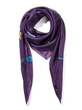 Invisible World 100% Silk Hand-Painted Hand-Sewn Square Scarf Dragonfly Design
