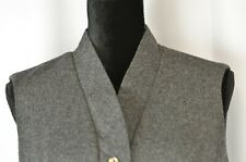 Tudor Square Women's Vest Size 10 Waistcoat Wool Tweed Button Up Boho Medium