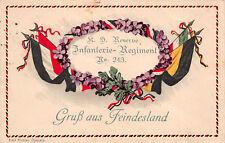 Regimentskarte Infanterie - Regiment Nr. 243 Gruß aus Feindesland 1916