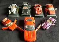 Lot De 7 voitures miniature BURAGO Ferrari Bugatti Corvette Cobra 1/18 1/25