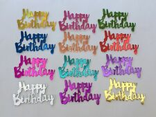12 NEW 'HAPPY BIRTHDAY' HOLOGRAPHIC CARD TOPPERS.