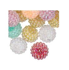50 Bubblegum Inspired Assorted Razzleberry AB Acrylic Beads 15MM