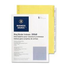 Business Source Ring Binder Index Divider - Blank - 5 Tab[s]/set - (bsn20068)