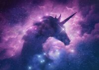 A1 | Art Poster of Unicorn Nebula 60 x 90cm 180gsm Pink Purple Gift#14344