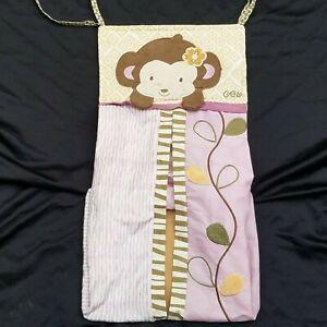 COCALO Baby Diaper Holder Stacker Jungle Safari Monkey