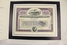 Certificato Bullish International Merchant Marine 50 (Titanic) 1919