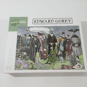 Edward Gorey 1000 Piece Puzzle Halloween Noir Used Untitled Noir Mystery