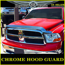 2009-2018 Ram 1500 Chrome Bug Shield Deflector Hood Guard Protector WRAPAROUND