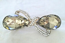 USA SELLER - FANCY FRENCH BARRETTE  - CHAMPAGNE COLOR - 3.75""