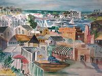 """ORIGINAL ART Watercolor Painting  JOAN PERRY (1928-2019) 24""""w X 18""""h"""