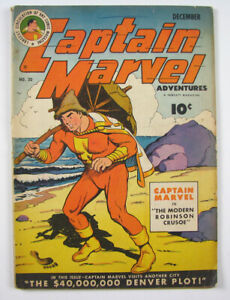 Captain Marvel Adventures Golden Age Comic Book Vol.5 No.30 Fawcett