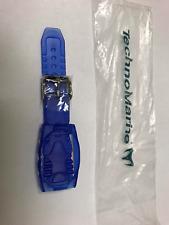 NEW ORIGINAL TECHNOMARINE BLUE GEL SILICONE WATCH STRAP 17MM