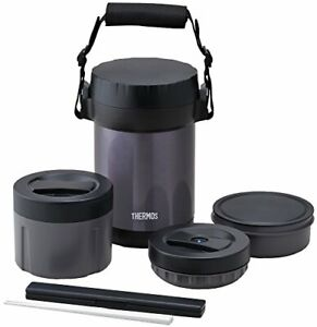 THERMOS JBG-1801 Bento Lunch Box/Hot Lunch / Plastic & Stainless Steel Japan New
