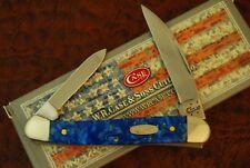 CASE XX USA BLUE SPARKLE WHARNCLIFF MINI COPPERHEAD KNIFE 2016 102109W SS (3874)