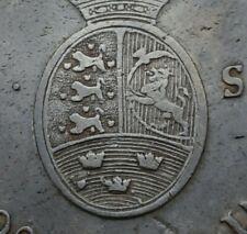 Schleswig Holstein Denmark 60 Schilling 1789MF KM#138.4 .875 Silver Daler Specie