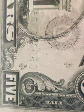 《Error Heavy Ink # & Seal In Back》$5 1981  FSN Binary Radar D59999995A AU ,Rare!