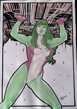 MARVEL Comics SHE-HULK Original Art AVENGERS CAGE THANOS INFINITY WAR A-FORCE
