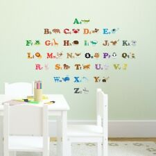 Decowall  Alphabet & Animals Nursery Kids Removable Wall Stickers Decal DS-8001