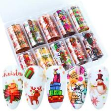 3D DIY Decor Nail Transfer Foil Christmas Style Nail Art Sticker Nail Decal