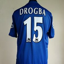 Chelsea Home Football Shirt Adult Large DROGBA #15 2005/2006 CENTENARY