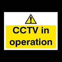 MISC11R ALL SIZES FREE P+P CCTV IN OPERATION WINDOW STICKERS