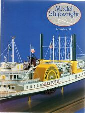 Model Shipwright No 80  (Conway 1992 1st) with Modellers Draught plan