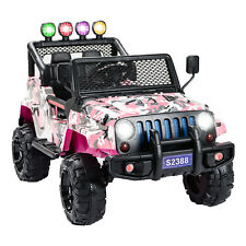 12V Electric Ride on Car Battery Kids Toys Supspension w/ Remote Control Pink