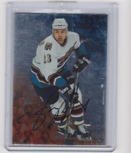 Be A Player Brian Bellows insert Autograph Card  ( Washington Capitals )