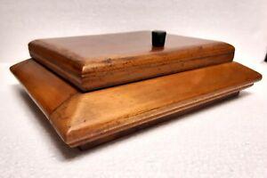 ART DECO antica scatola legno portagioie sigarette anni 30/40 vintage, scrivania