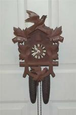 Old German Black Forest 8 Day Cuckoo Clock In Running Condition