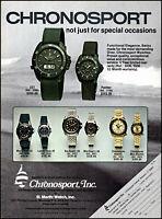 1981 Scuba Diving Chronosport Watches ocean surf vintage photo print ad ads61