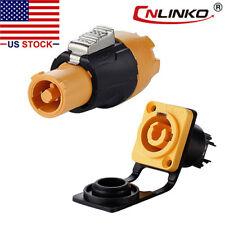 CNLINKO 3 Pin Connector Plug & Socket Waterproof IP67 Compatible w/ Neutrik