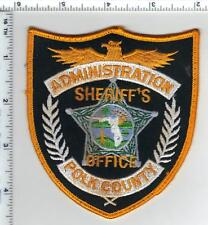 Polk County Sheriffs Office (Florida) Administration Uniform TakeOff Patch 1980s