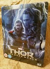 THOR DARK WORLD Blu-Ray 3D Zavvi UK Exclusive Ltd STEELBOOK Lenticular Magnet