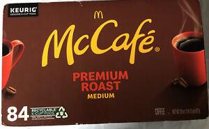 84 Ct McCafe Premium Medium Roast Coffee Keurig K-Cups, BB 10/16/21 FREE US SHIP