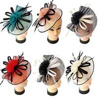 Ladies Large Headband Clip Hat Fascinator Weddings Ladies Day Race Royal Ascot