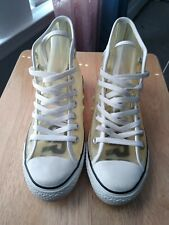 * RARE *  ! CONVERSE ALL STARS Clear SEE THROUGH Hi Tops SNEAKERS Shoes M 7 W 9