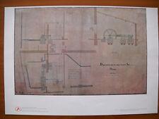 ANSALDO 1980 ( F 9 ) Riproduzione disegno tecnico Macchina a vapore - 1876  -