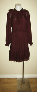 H & M size US 12 AU 14 long sleeved evening dinner party work office dress